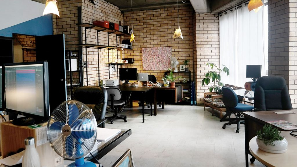 finky factor light filled front room of our shared Sydney studio